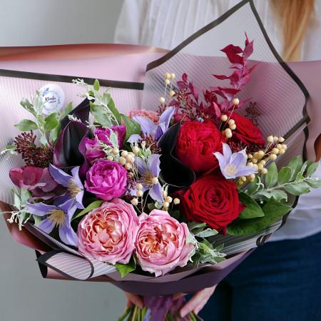 Букет из роз и калл
