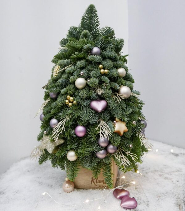 мини елка фиолетовая