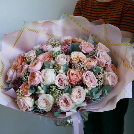 Букет микс из роз разных сортов