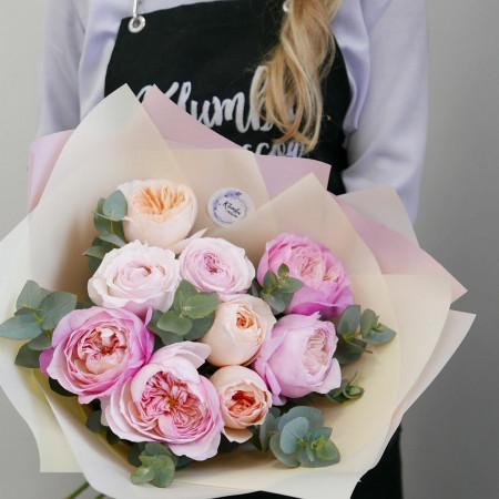 Микс пионовидных роз