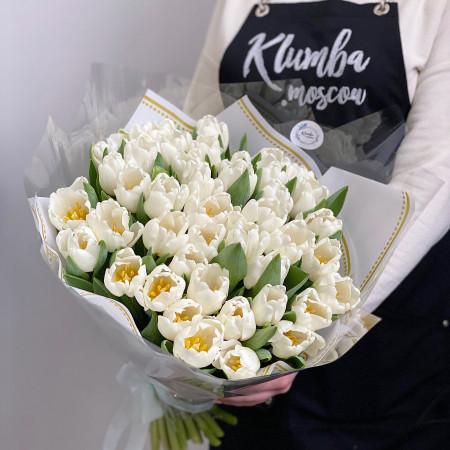 Букет из белых тюльпанов 45 шт.