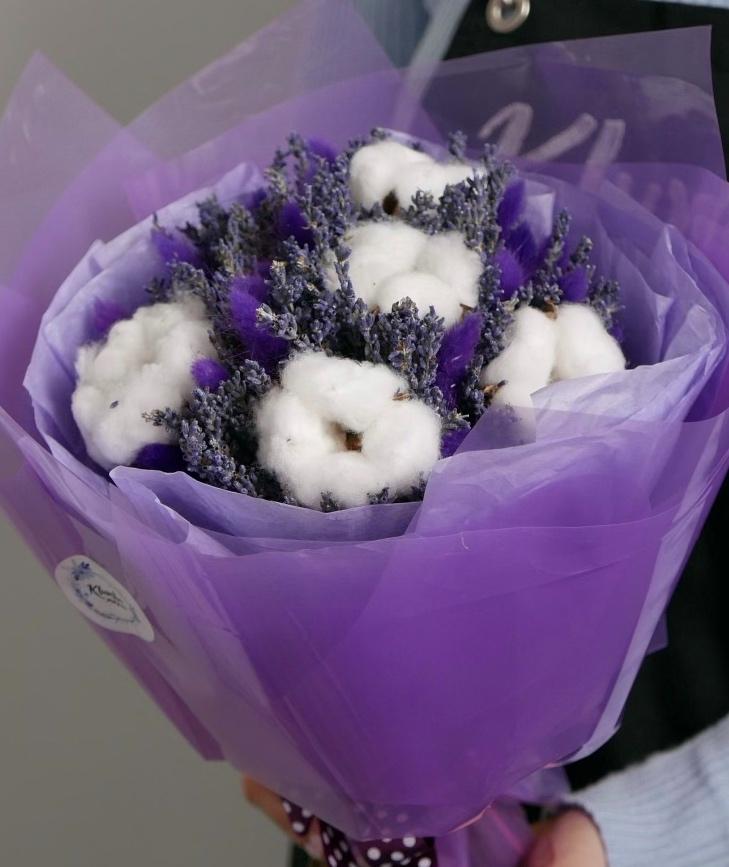 """Букет сухоцветов """"Фиолетовый"""" 2"""
